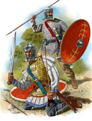 Picture by Johnny Shumate of 3rd century Roman infantry.